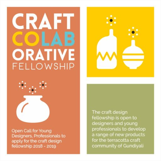 Poster- Announcing Craft CoLABorative Fellowship Programme with the terracotta craft community of Gundiyali